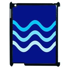 Blue waves  Apple iPad 2 Case (Black)