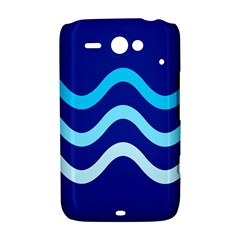 Blue waves  HTC ChaCha / HTC Status Hardshell Case