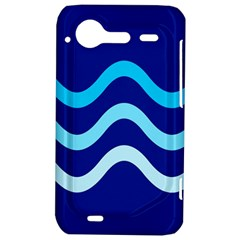 Blue waves  HTC Incredible S Hardshell Case