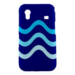 Blue waves  Samsung Galaxy Ace S5830 Hardshell Case