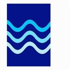 Blue waves  Small Garden Flag (Two Sides)