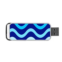Blue waves  Portable USB Flash (One Side)
