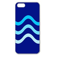 Blue waves  Apple Seamless iPhone 5 Case (Clear)