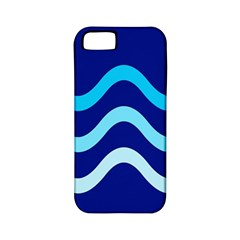 Blue waves  Apple iPhone 5 Classic Hardshell Case (PC+Silicone)