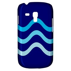 Blue waves  Samsung Galaxy S3 MINI I8190 Hardshell Case