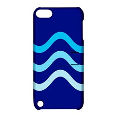 Blue waves  Apple iPod Touch 5 Hardshell Case with Stand