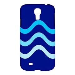Blue waves  Samsung Galaxy S4 I9500/I9505 Hardshell Case