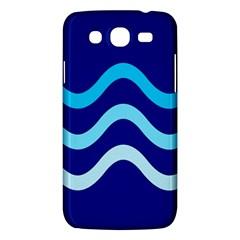 Blue waves  Samsung Galaxy Mega 5.8 I9152 Hardshell Case