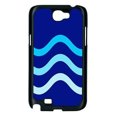 Blue waves  Samsung Galaxy Note 2 Case (Black)