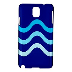 Blue waves  Samsung Galaxy Note 3 N9005 Hardshell Case