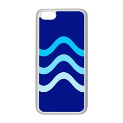 Blue waves  Apple iPhone 5C Seamless Case (White)