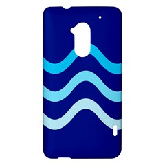 Blue waves  HTC One Max (T6) Hardshell Case
