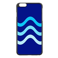 Blue waves  Apple iPhone 6 Plus/6S Plus Black Enamel Case