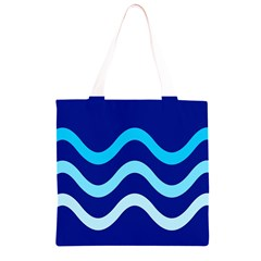 Blue waves  Grocery Light Tote Bag