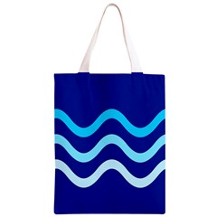 Blue waves  Classic Light Tote Bag