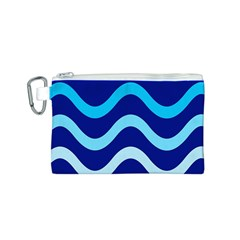 Blue waves  Canvas Cosmetic Bag (S)