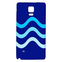 Blue waves  Galaxy Note 4 Back Case