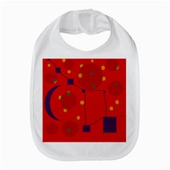 Red abstract sky Bib