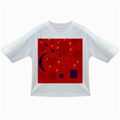 Red abstract sky Infant/Toddler T-Shirts