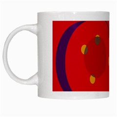 Red abstract sky White Mugs