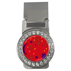 Red abstract sky Money Clips (CZ)