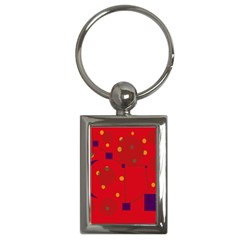 Red abstract sky Key Chains (Rectangle)