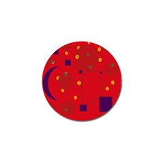 Red abstract sky Golf Ball Marker (4 pack)