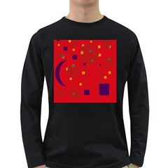 Red abstract sky Long Sleeve Dark T-Shirts