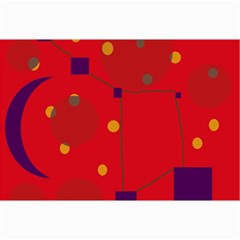 Red abstract sky Collage Prints