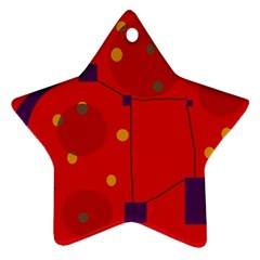 Red abstract sky Star Ornament (Two Sides)