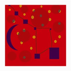 Red abstract sky Medium Glasses Cloth