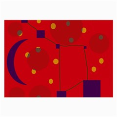 Red abstract sky Large Glasses Cloth (2-Side)