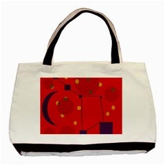 Red abstract sky Basic Tote Bag (Two Sides)