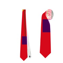 Red abstract sky Neckties (Two Side)