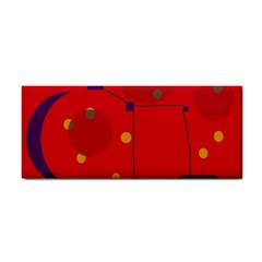 Red abstract sky Hand Towel