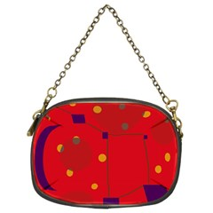 Red abstract sky Chain Purses (Two Sides)