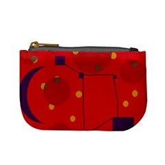 Red abstract sky Mini Coin Purses