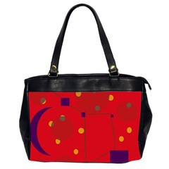 Red abstract sky Office Handbags (2 Sides)