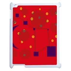 Red abstract sky Apple iPad 2 Case (White)
