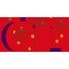 Red abstract sky YOU ARE INVITED 3D Greeting Card (8x4)