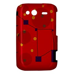 Red abstract sky HTC Wildfire S A510e Hardshell Case