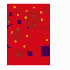 Red Abstract Sky Large Garden Flag (two Sides)