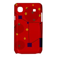 Red abstract sky Samsung Galaxy SL i9003 Hardshell Case