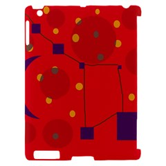 Red abstract sky Apple iPad 2 Hardshell Case (Compatible with Smart Cover)