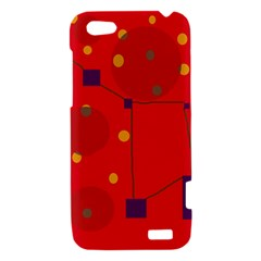 Red abstract sky HTC One V Hardshell Case