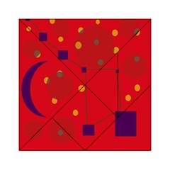 Red Abstract Sky Acrylic Tangram Puzzle (6  X 6 )
