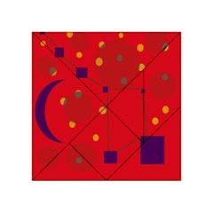 Red abstract sky Acrylic Tangram Puzzle (4  x 4 )