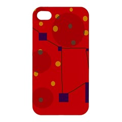 Red abstract sky Apple iPhone 4/4S Premium Hardshell Case
