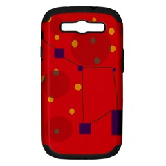 Red abstract sky Samsung Galaxy S III Hardshell Case (PC+Silicone)