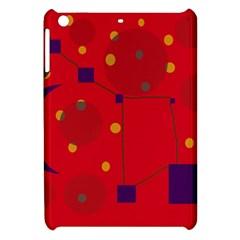 Red abstract sky Apple iPad Mini Hardshell Case